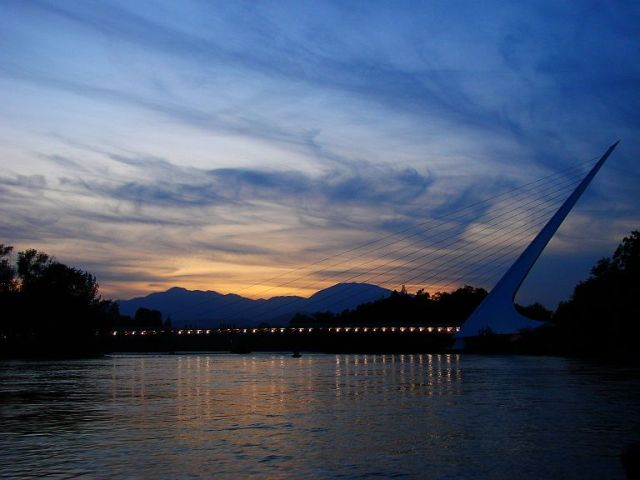 Sundial Bridge at Sunset
