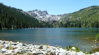 View of Sierra Buttes from Sardine Lake