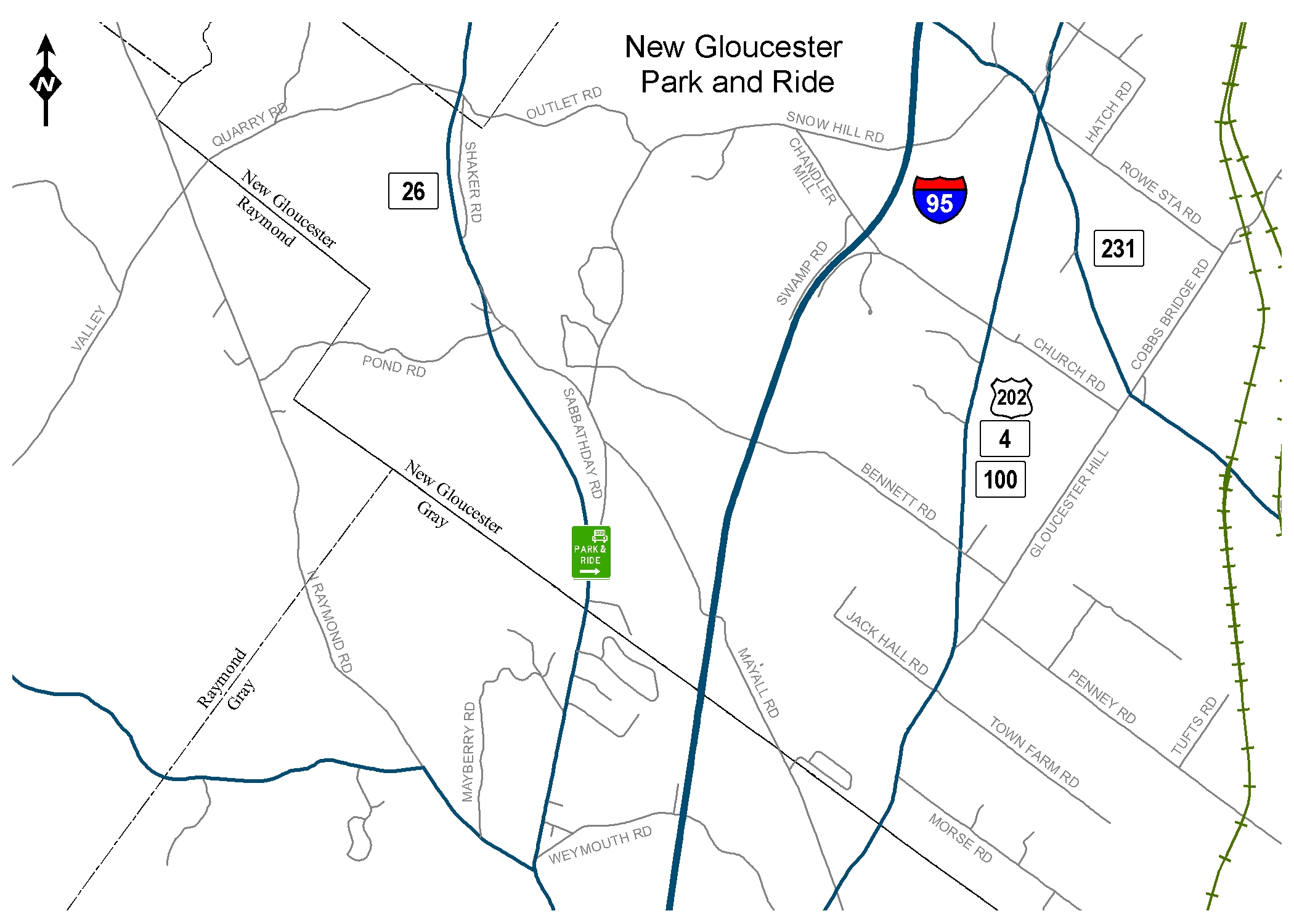 New Gloucester Maine Map