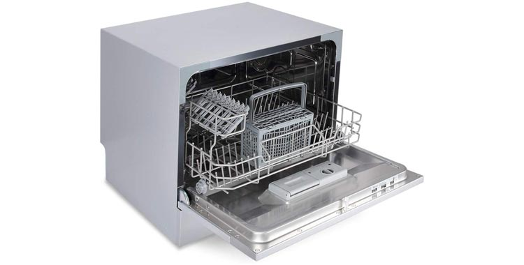 Farberware Professional FCD06ABBWHA Compact Portable Countertop Dishwasher