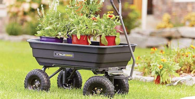 Gorilla Carts GOR4PS Poly Garden Dump Cart