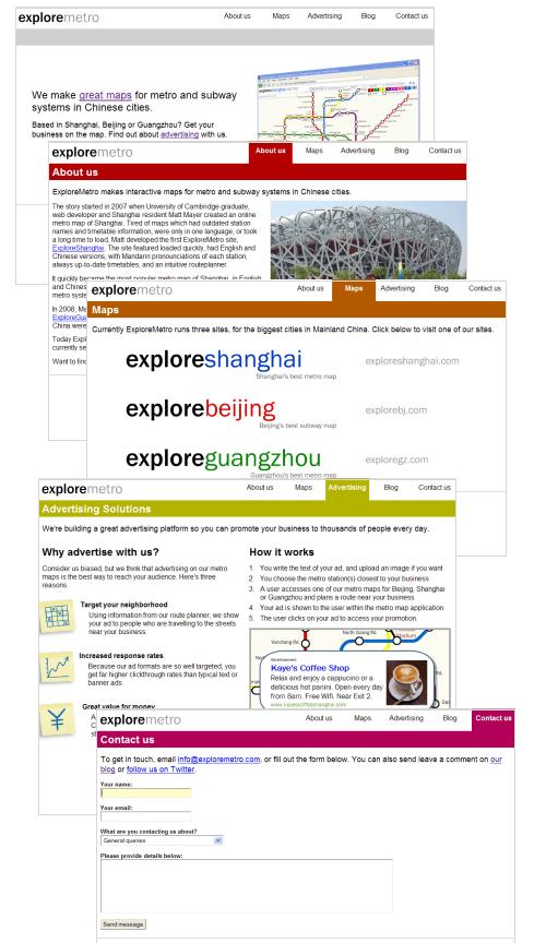 New pages on ExploreMetro.com