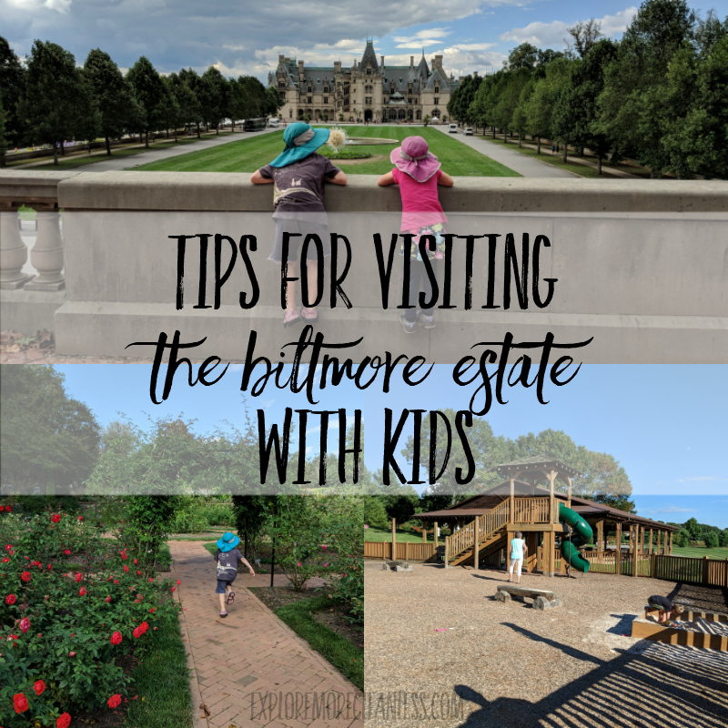 tips for visiting the Biltmore Estate with kids