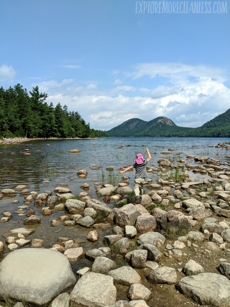 jordan pond with kids acadia