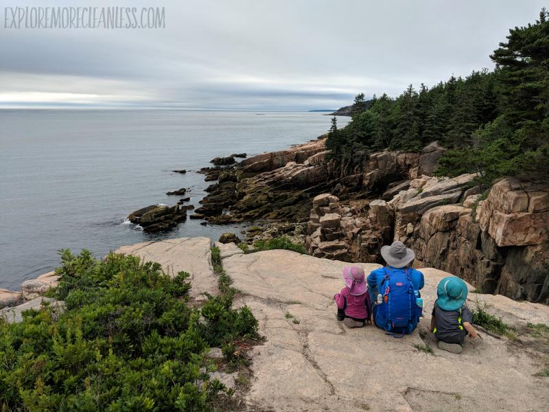 ocean path with kids acadia