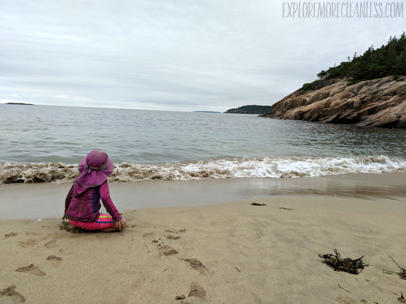sand beach acadia national park kids