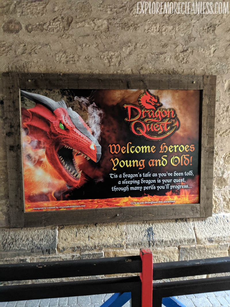 dragon show at castle england