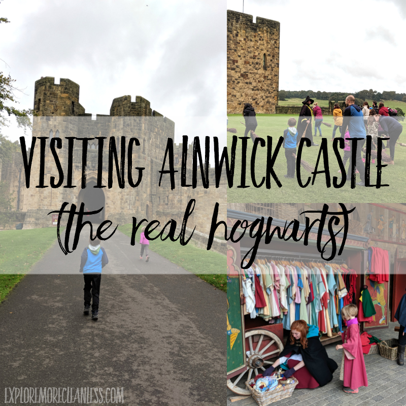 visiting alnwick castle with kids