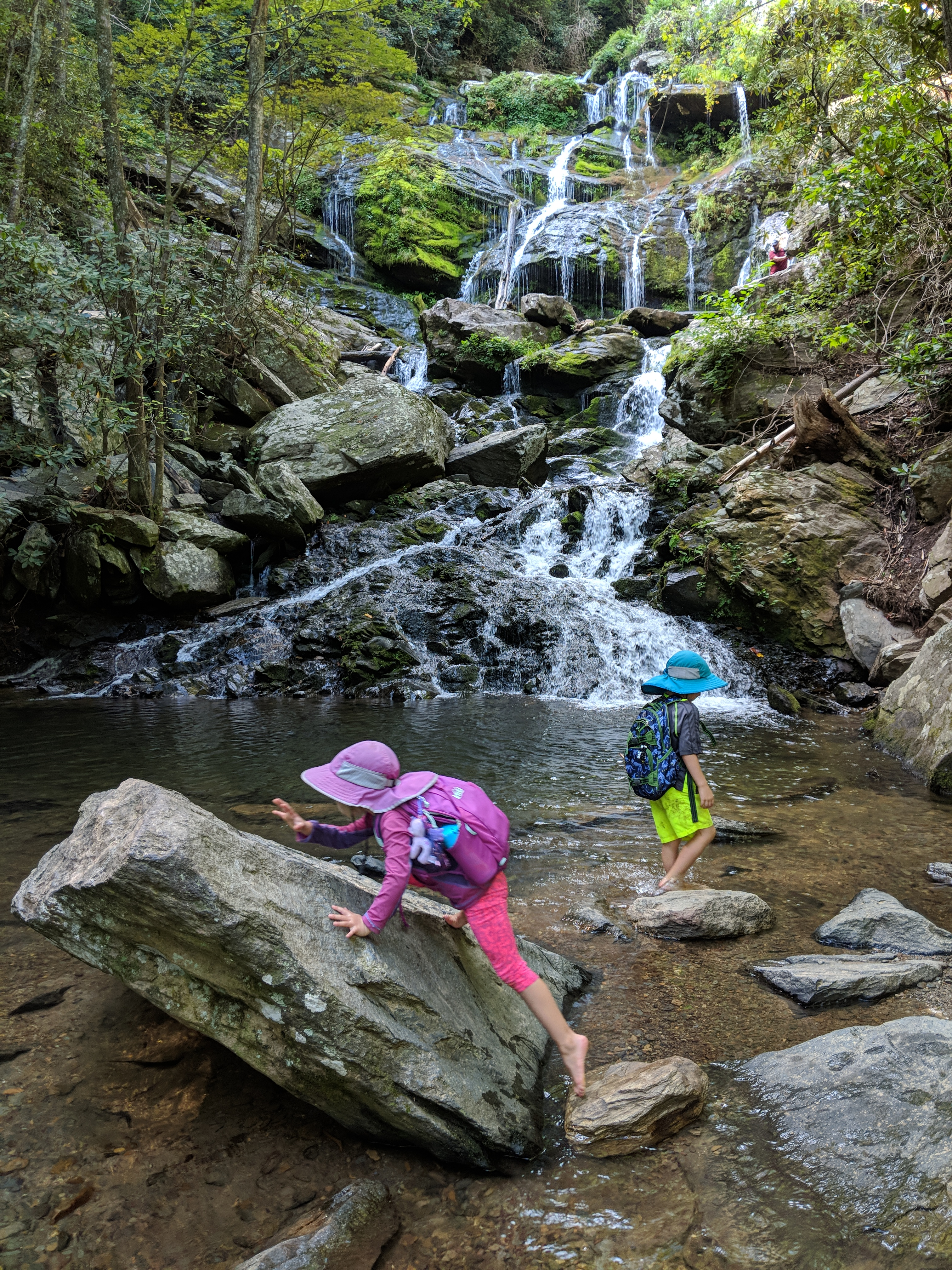 catawba falls with kids