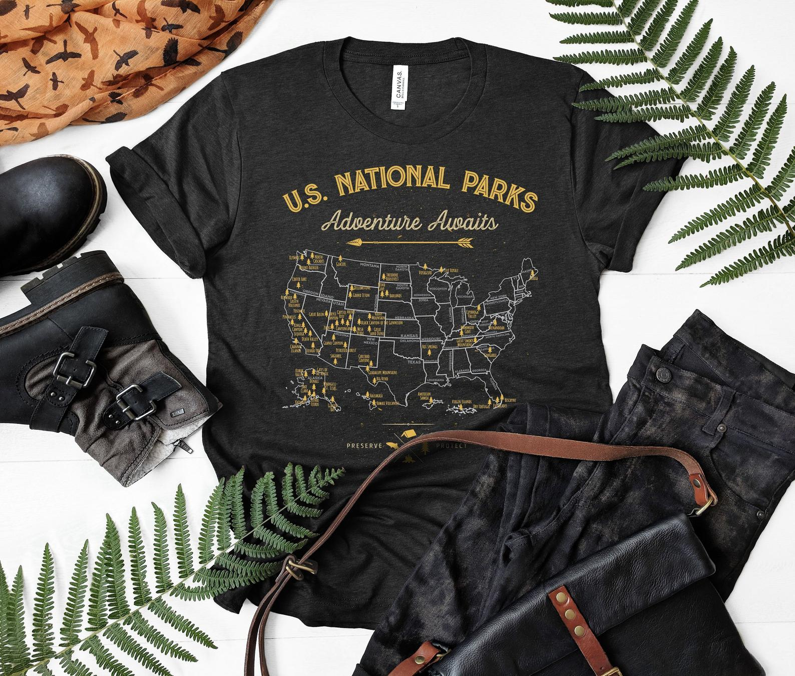 us national parks graphic tshirt