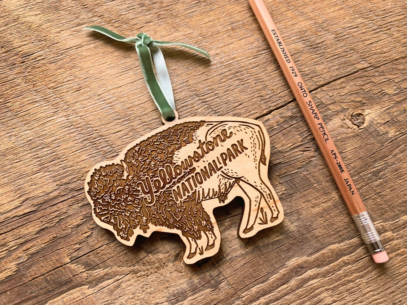 yellowstone bison christmas ornament