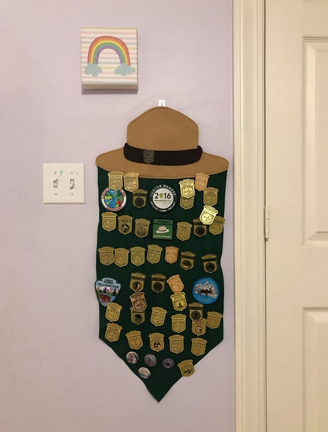 junior ranger badge felt pennant diy