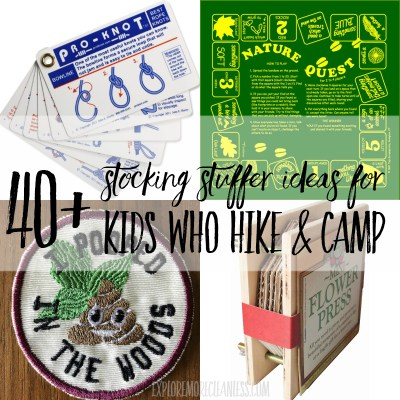 40+ hiking stocking stuffers for kids!