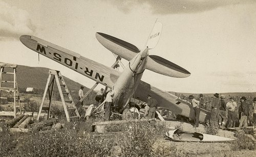 Wiley Post 1933 crash at Flat, Alaska