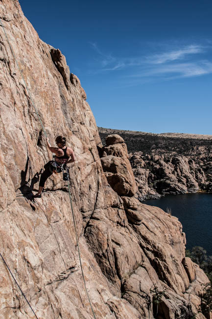 Prescott Arizona Rock Climbing Time Zone Wall