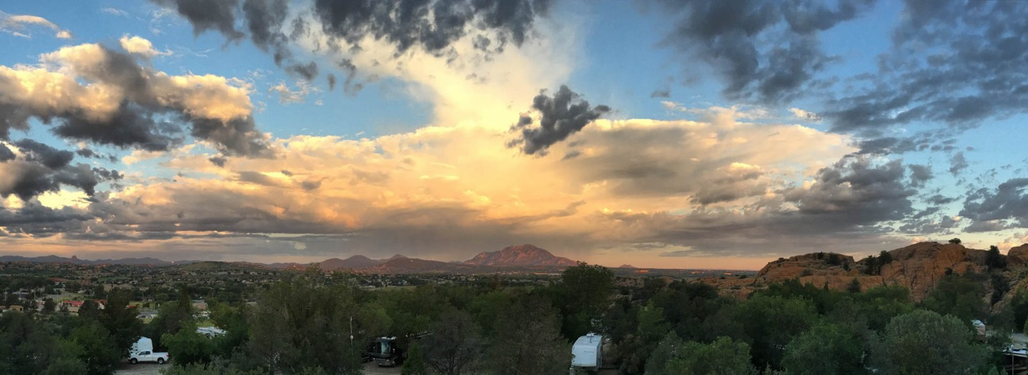 Sunrise Monsoon Cloud Build from Point of Rocks RV Campground