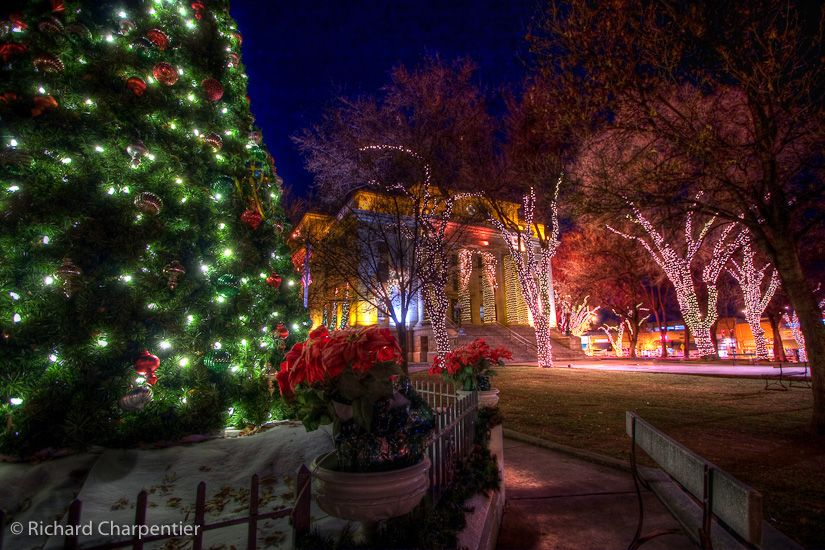 Prescott Christmas Lights, downtown Prescott, courthouse lights, whiskey row, prescott az, christmas city