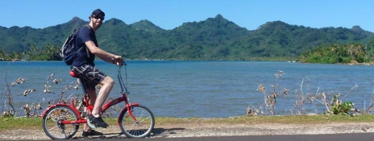 Polynésie francaise à vélo pliable