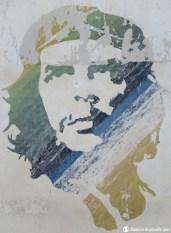 Emblème du Che sur le mur.