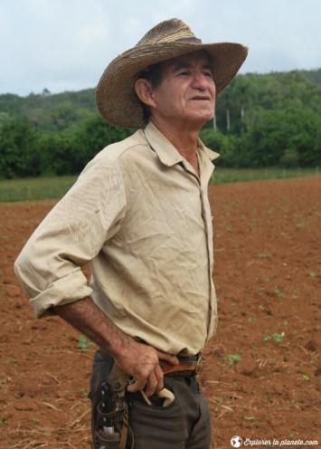 Un cowboy cubain à Vinales.