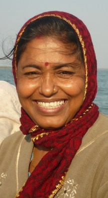 Portrait d'une Indienne à Sunderbans en Inde