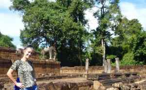 ExplorerLink in angkor archaeological park Siem Reap Cambodia