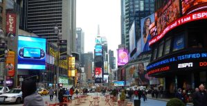 View of Times Square New York in Afternoon
