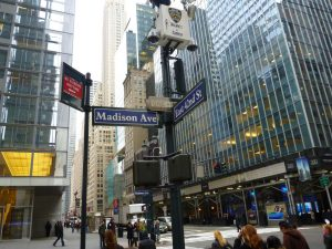 View of Madison Avenue and 42nd Street in New York