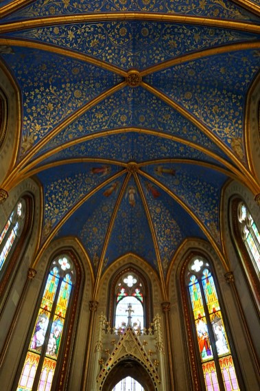 The blue ceiling of the chapel in Hohenzollern Castle