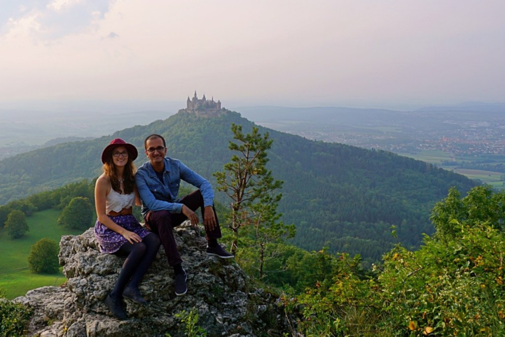Mr. & Mrs. Explorer with Hohenzollern Castle in the background.