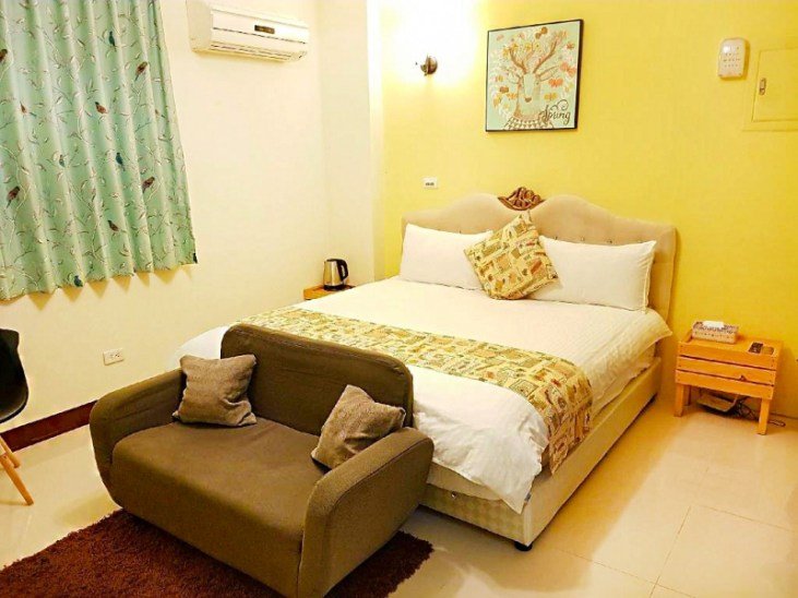 The cute room of the Sunny Path Guesthouse