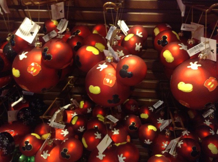Mickey Mouse Baubles just in time for the holidays.