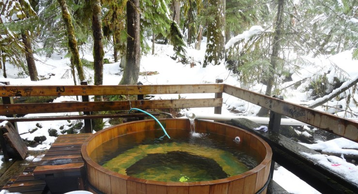 Bagby Hot Springs Winter