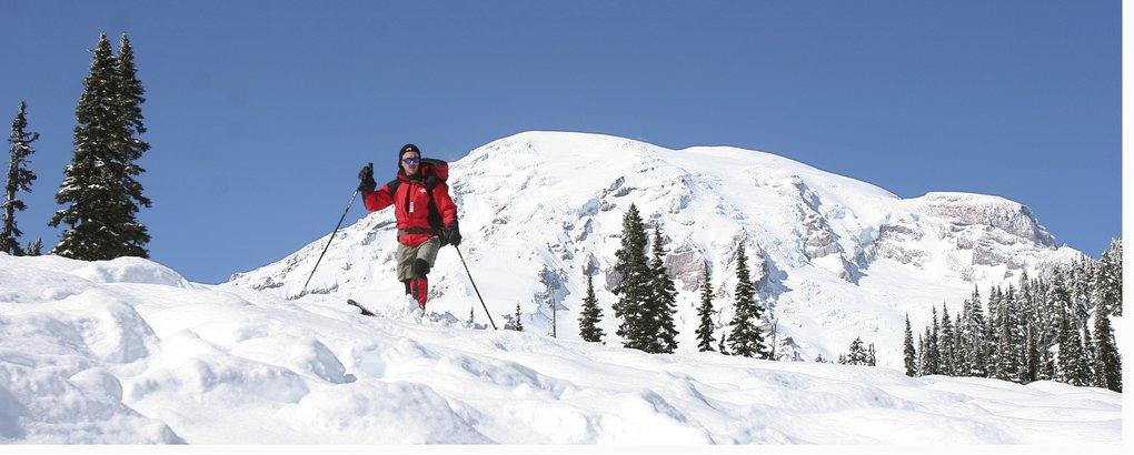 Skiing Mount Rainier