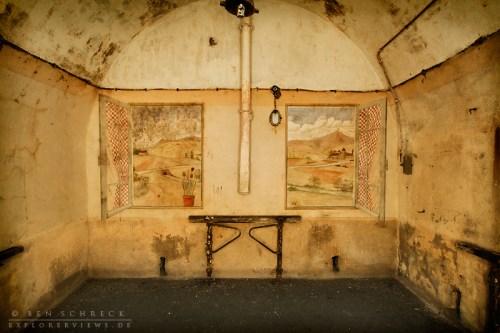 Beleuchtung bei der Fotografie im Bunker