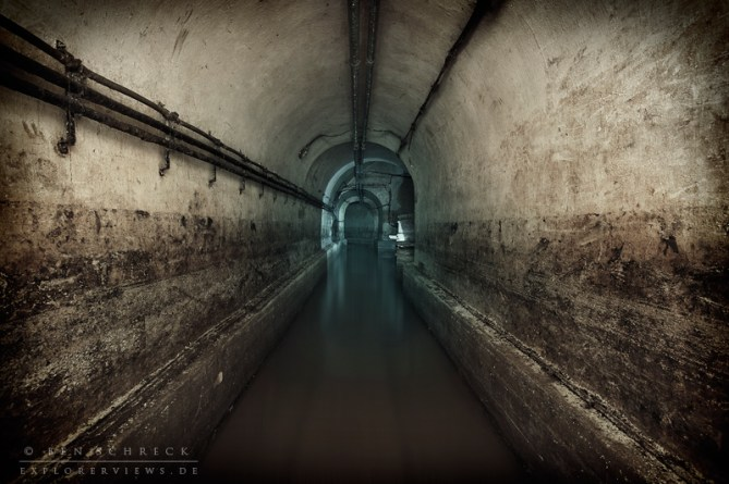 flooded bunker in the maginot line