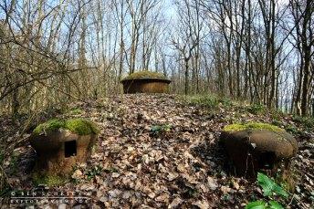 Aussenansicht eines MG Turm der Maginot Linie