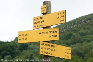 Wanderwege in Auvergne