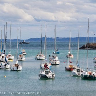 Boote im Hafen Saint Quay Portrieux
