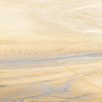 Sandbucht am Meer Ebbe 3827