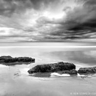 Steine am Strand Black and White Seascape 9139