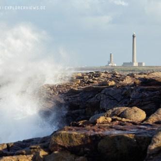 Leuchtturm im Sturm Normandie 3178
