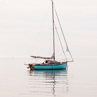 Schönheit des Meeres Segelboot am Morgen 1385