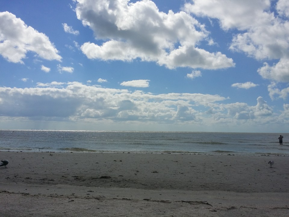 shows the first stop on our road trip, Sanibel Beach