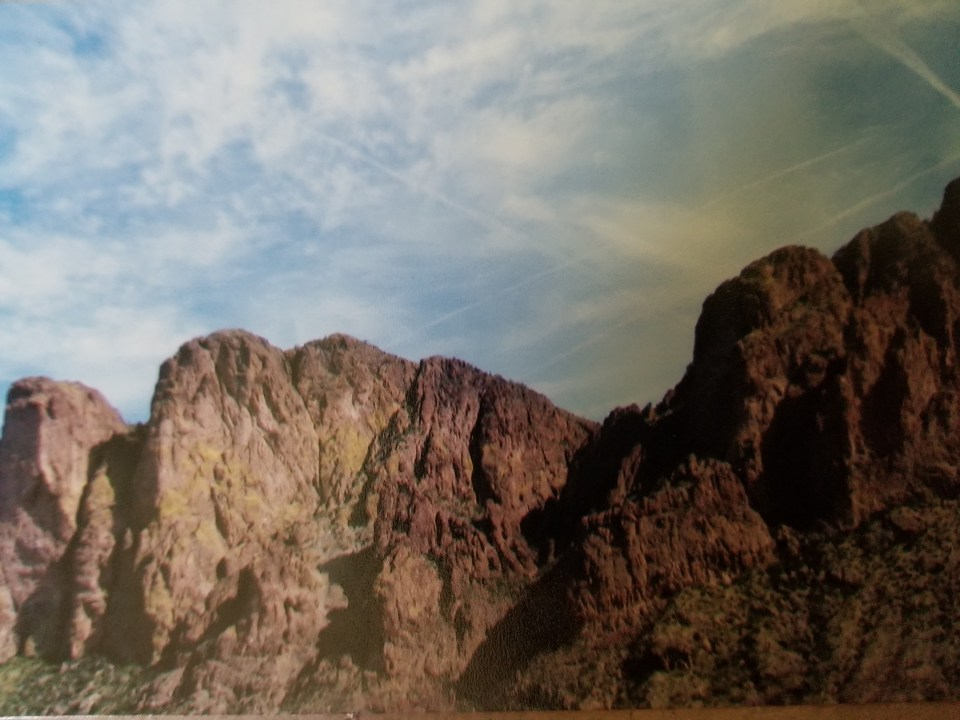 Mountain view on the way to Lake Saguaro in Scottsdale, Arizona