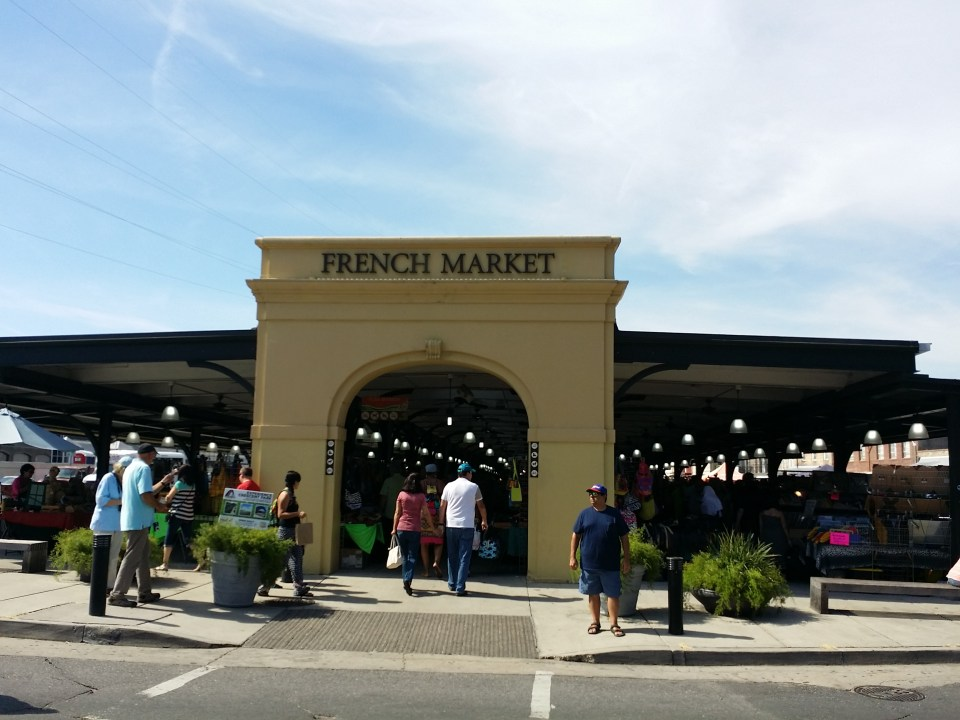 archway entrance to the French Market in New Orleans