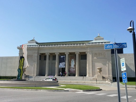 Shows the front of the New Orleans Museum of Modern Art, our final road trip destination