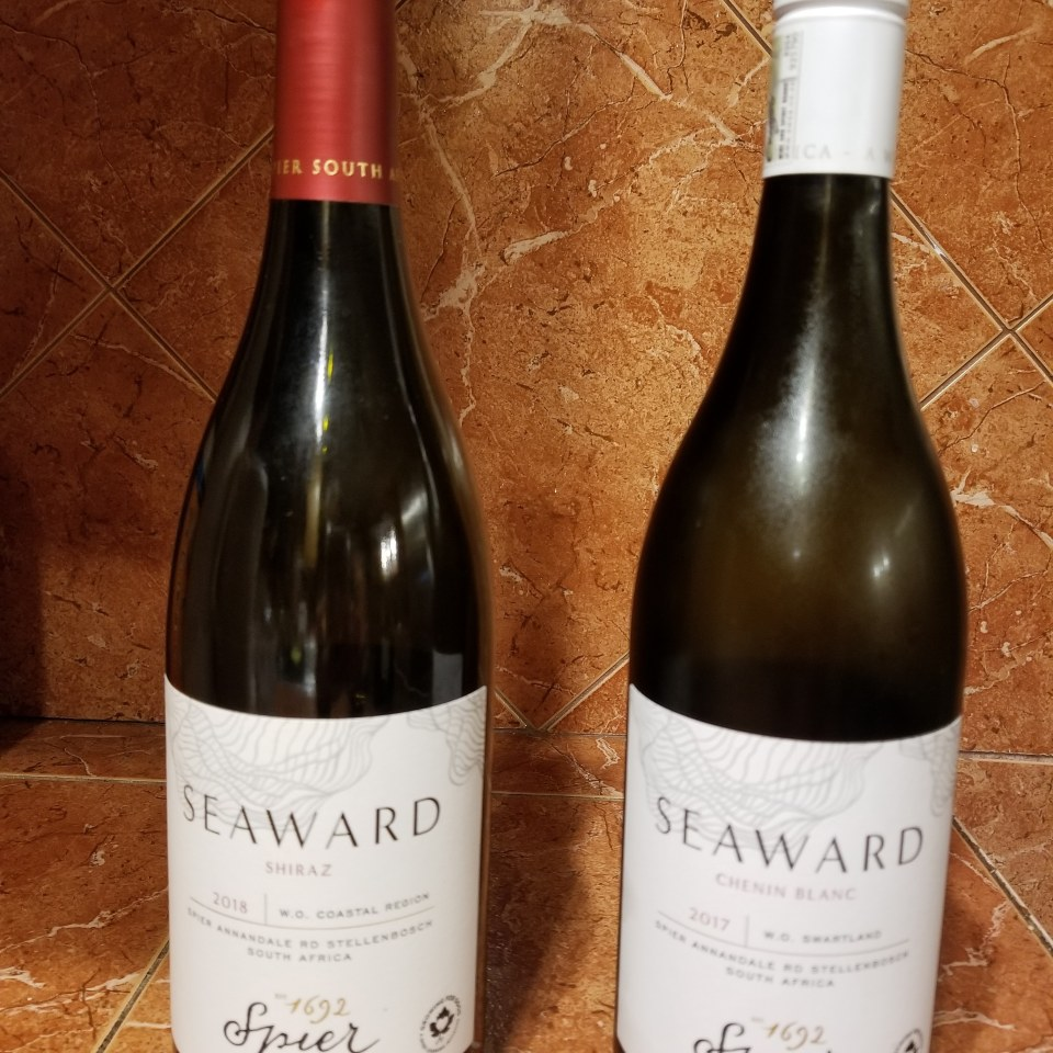 shows two bottles of wine used during a virtual travel experience to South Africa