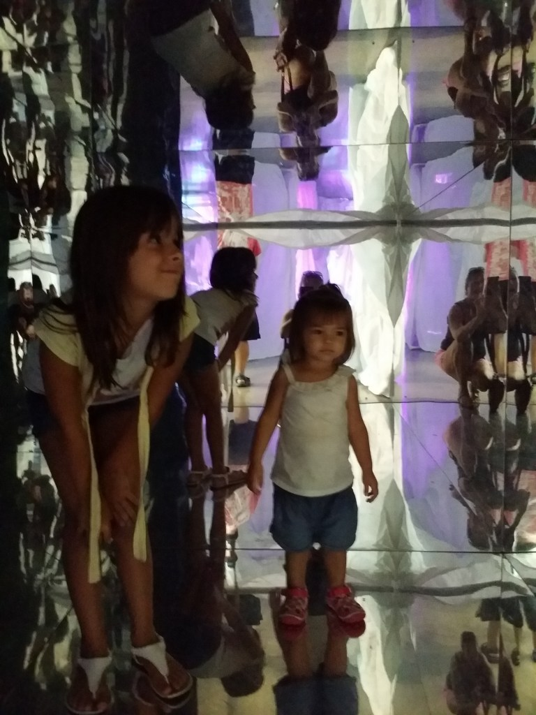 Mirrored tunnel at Young at Art museum in south Florida for families