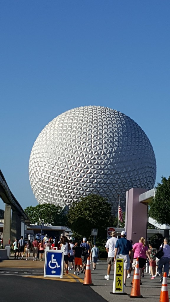 Epcot Ball during the day